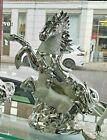 Italian Silver Horse Romany Bling Ornament Ceramic Home Decor Gift  Uk