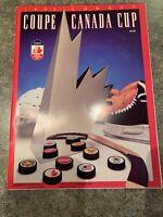 1991 Labatt Coupe Canadian Cup,Official Souvenir Magazine,5 Autographs,NHL,LOOK!