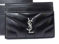Authentic Yves Saint Laurent Leather Card Pass Case Holder Unused C1900