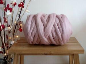 Dusty Pink* Pure Merino Wool for Arm Knitting, Giant Yarn, Felting 100 g - 1 kg
