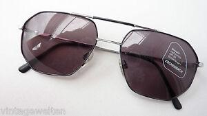 Eschenbach Sonnenbrille Pilot XXL Gläser schwarz silber Doppelsteg 59-18 Gr. L