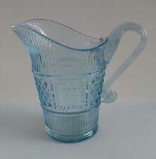 "Fenton Transparent Salem Blue Glass Pitcher 5"" Beautiful Limited 1991"