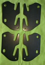 "4 Bed Rail Double Hook Flat Slot Plates Fits 2"" Bracket or Bed Post 13 ga. Steel"