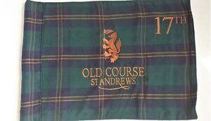 St Andrews golf pin flag fully embroidered tube attached