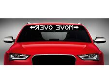 """40"""" Move Over Mirrored Car Decal Sticker Windshield Banner JDM Racing 4x4 Truck"""