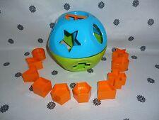 Tupperware Kids Shape-O Toy Shape Sorter Blue Green & Orange New