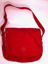 KIPLING BRAND BRIGHT RED LARGE MESSENGER STYLE ADJUSTABLE STRAP BAG