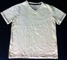 Boys Beige Navy Premium Strength Next V Neck T Shirt 7 y Tee Top Vintage Brand