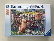 Cute Dogs In The Garden - Ravensburger 500 Piece Jigsaw Puzzle.