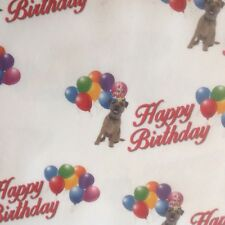 BORDER TERRIER BIRTHDAY GIFT WRAPPING PAPER PETS DOGS MUM DAD CHILDREN FAMILY
