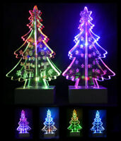Colour Changing Acrylic LED Christmas Tree Ornament Xmas Window Light Decoration