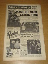 MELODY MAKER 1957 APRIL 6 MR BEAT TOMMY STEELE DECCA FRANKIE VAUGHAN BASIE +