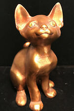 Mid-Century Ceramic Gold Leaf CAT FIGURE ~ Freeman McFarlin Pottery by Anthony