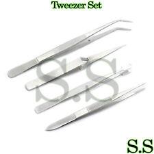4pc Tweezers - Craft Jewelry Beauty Nail Art Hobby Picking Tool