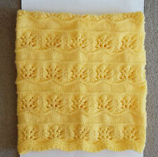 NEW Handmade HONEY BEE YELLOW Knit Crochet BABY Afghan Blanket Knitted THROW
