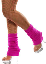 Ladies 80s Bright Neon Pink Leg Warmers