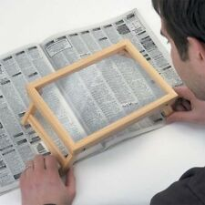 Hands-free Standing Pine Wooden Page Magnifier Magnifying Glass 9½ x 6½ inches