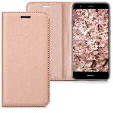 kwmobile Flip Schutz Hülle für Huawei P10 Lite Rosegold Case Tasche Kunstleder