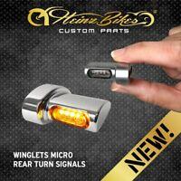 HeinzBikes Winglets MICRO Blinker Harley-Davidson Softail hinten Chrom