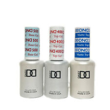 DND DAISY GEL - UV LED - 200 400 500 Base, Top, and Matte Gel Set  .5 FL OZ