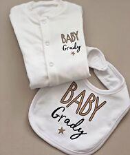Funky PERSONALISED Unisex baby clothing babygrow,vest,bib baby gift BABY SHOWER