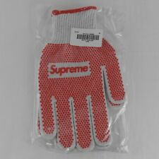 Supreme SS18 Grip Work Gloves White Red Box Logo One Size BRAND NEW SEALED