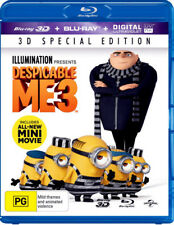 Despicable Me 3 3D Blu-ray Region B New!