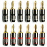 12X Banana Plug Speaker Adapter 24K Gold Plated Connector Zinc Alloy For Monster