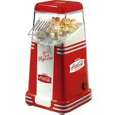Mini Coca Cola Hot Air Popcorn Machine, 8 Cup Compact Retro Home Pop Corn Maker