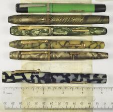 6 vintage celluloid fountain pens, Avon, Wearever, Epenco, Royal, Stetson