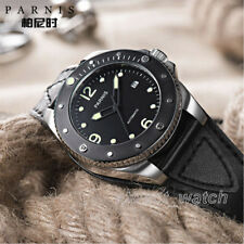 43mm Miyota Automatic Men's Watch Parnis Sapphire Luminous Marker Ceramic Bezel