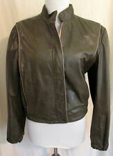 Vintage Northside BROWN leather biker jacket women's 9-10 *FREE SHIPPING* Nice