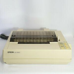 Vintage Epson LQ-850 Dot Matrix Printer w/ Cable Tested Works