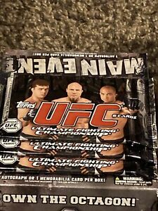 Three 2010 Topps UFC Main Event Sealed Retail Packs