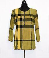 "AUTH WOMEN'S BURBERRY BRIT TUNIC SHIRT TAG M /OVERSIZE GIANT CHECK P2P 22""/ 56cm"