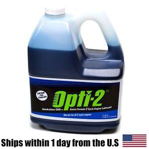 Opti One Gallon Bottle 2 Cycle Engine Oil Mix Opti-2 Enviro Formula 20044