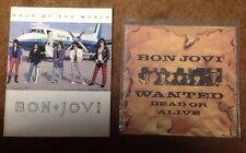 """Bon Jovi Lot: Wanted Dead or Alive 12"""" UK Record + Slippery When Wet Tour Prog"""