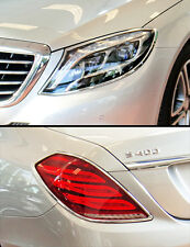 FAST EMS Combo Set CHROME HEAD+REAR LAMP TRIMS for Mercedes S Class W222 13-16