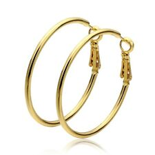 Women Big Hoop Earrings Jewelry Yellow Gold Plated Basketball Wives Hoop Earring