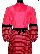 fab vintage 60s red/black evening dress