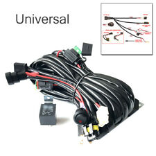 9005/H4 LED High Beam Wiring Harness light Bar 12/24V Relay Switch Kit Universal