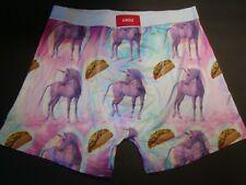 New UNDZ Underwear Men's Polyester Blend Boxer Brief Unicorn Tacos Large 34-36