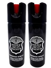 2 pack POLICE MAGNUM 3oz Safety Lock pepper spray Defense Security Protection