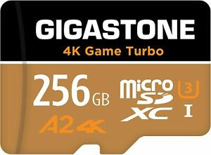 Gigastone 256GB Micro SD Card, 4K UHD Game Turbo, Read/Write 100/60 MB/s - New
