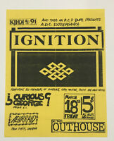 Original Vintage Punk Rock Concert Flyer Ignition 1988 Outhouse Kansas City