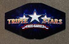 IGT Slot Machine Polygon Topper Insert TRIPLE STARS FREE GAMES