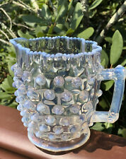 Antique 1850's Hobbs Brockunier Hobnail Small Pitcher Creamer Opalescent Rare