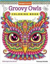 Groovy Owls Coloring Book by Thaneeya McArdle (Paperback, 2017)