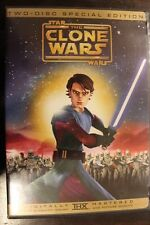 STAR WARS ANIMATED CLONE WARS CARTOON MOVIE 2-DISC DVD NTSC RARE VARIANT COVER