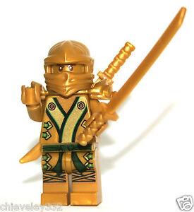 Lego Ninjago Ninja 70503 70505 Lloyd the Golden Ninja with 2 Swords New Genuine